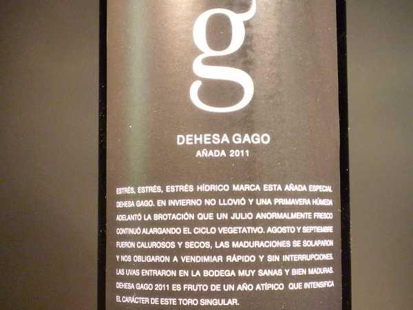 Telmo Rodriguez Dehesa Gago Toro 2016