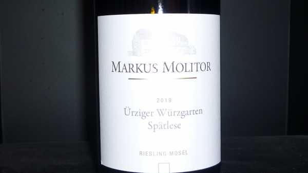 Markus Molitor Ürziger Würzgarten Riesling Spätlese 2019