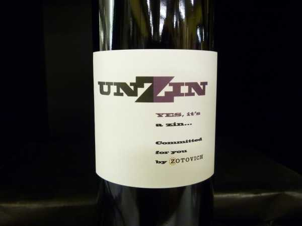 Unzin Yes, it`s a zin by Zotovich 2014
