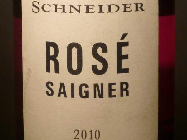 Schneider Markus Rosé Saigner Ellerstadt 2017