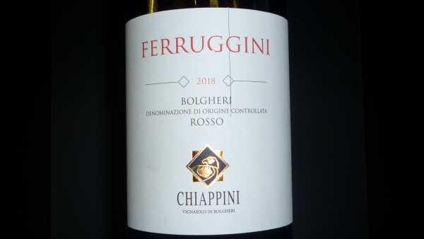 Giovanni Chiappini Ferruggini Bolgheri Rosso 2018