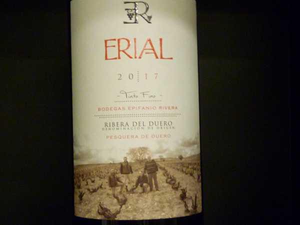 Bodegas Erial Epifanio Rivera Ribera del Duero 2017 -Restmenge-