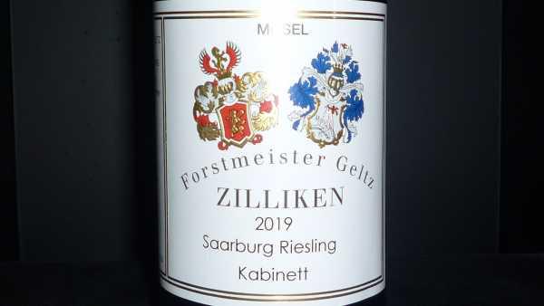 Forstmeister Geltz Zilliken Saarburg Riesling Kabinett 2019