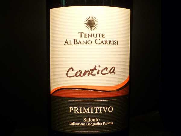 Primitivo Tenute Al Bano Carrisi Cantica Salento IGT 2010