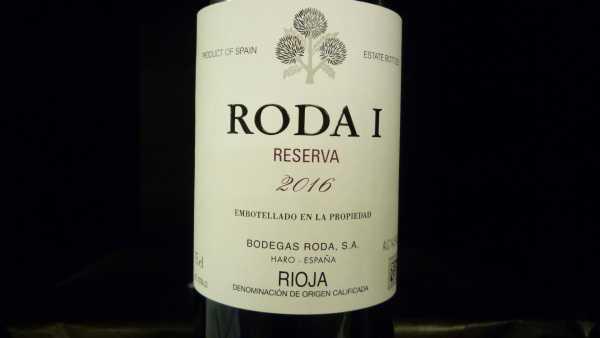 Roda 1 Reserva Rioja 2016