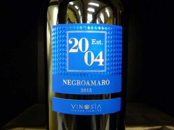 Vinosia Negroamaro Salento Est. 2004 2017