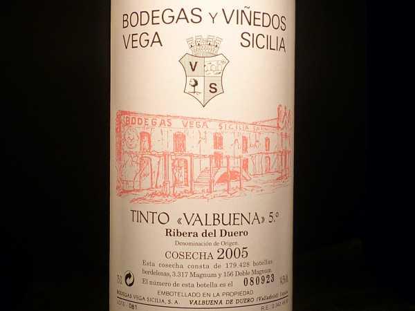 Bodegas Vinedos Vega Sicilia tinto Valbuena 2013