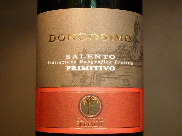 Cantine Due Palme Primitivo Doncosimo (unser Umsatzrenner Nr:1 ) 2018
