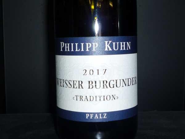 Philipp Kuhn Weisser Burgunder Tradition trocken 2017 / Restmenge