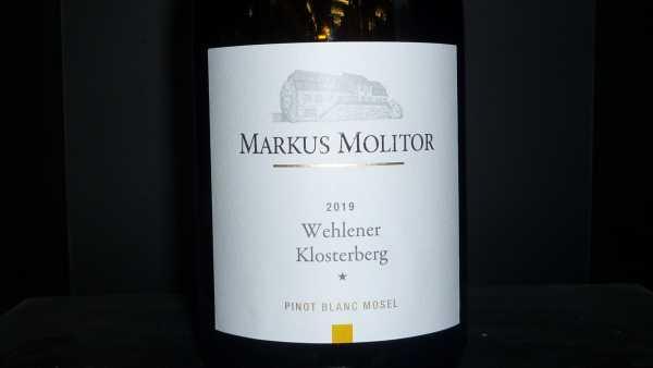 Markus Molitor Wehlener Klosterberg* Pinot Blanc 2019