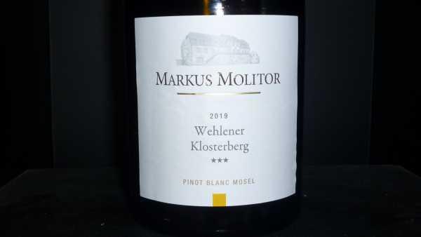 Markus Molitor Pinot Blanc Wehlener Klosterberg*** 2019