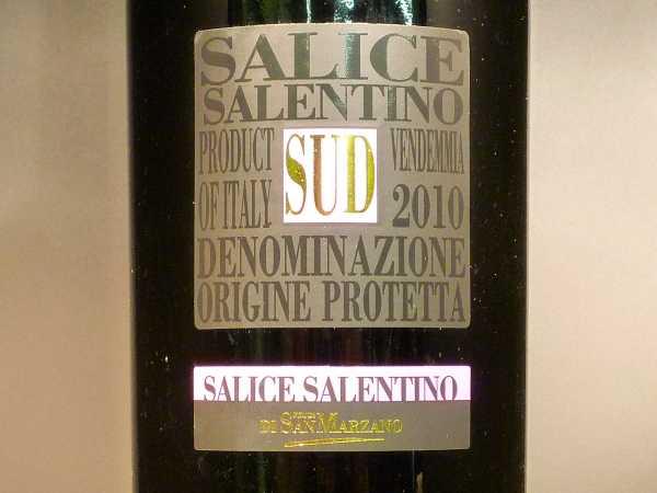Salice Salentino SUD Feudi di San Marzano 2014