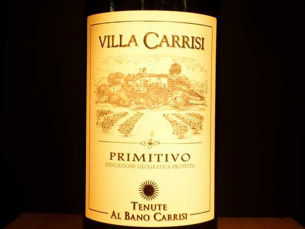 Primitivo Villa Carrisi Tenute Al Bano Carrisi 2012 -Restmenge-