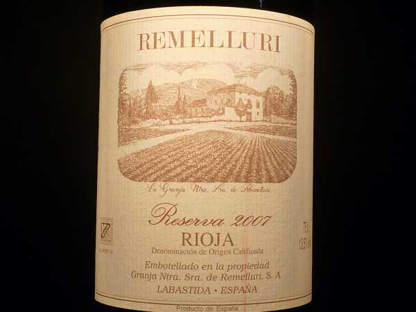 Remelluri Reserva 2011 -Restmenge-