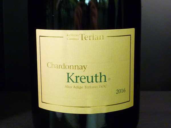 "Terlan Chardonnay ""Kreuth"" Alto Adige Terlaner doc 2017"