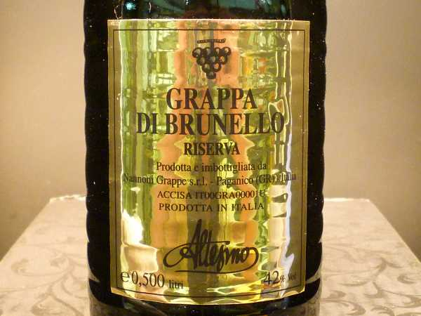 Altesino Brunello Reserva Grappa