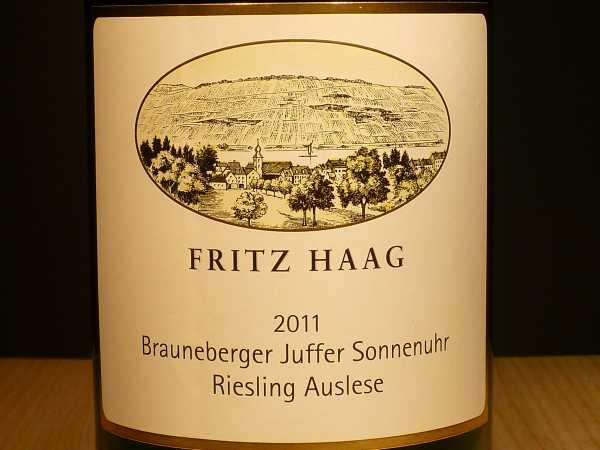 Fritz Haag Brauneberger Juffer Sonnenuhr Riesling Auslese 2016