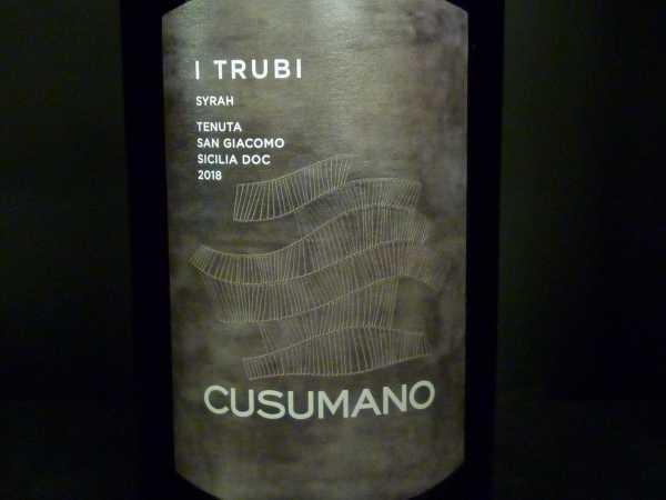 Cusumano Syrah-I Trubi Sicilia 2018