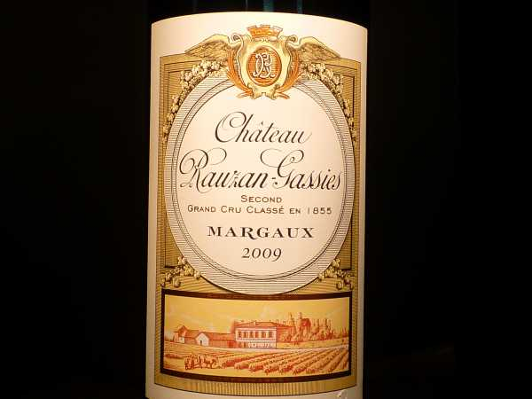 Chat. Rauzan Gassies Margaux 2009