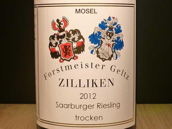 Forstmeister Geltz Zilliken Saarburger Riesling trocken Saar 2017