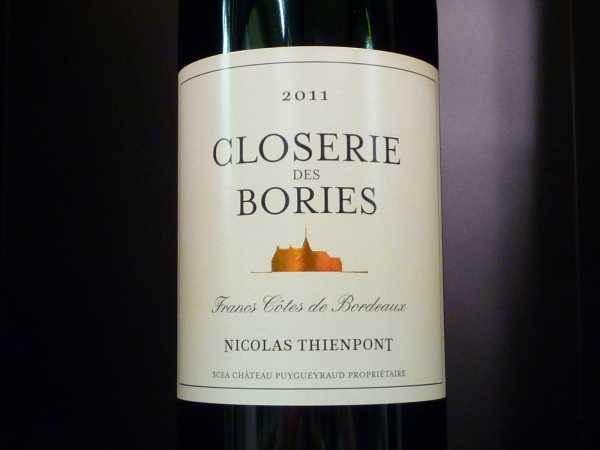 Closerie des Bories Nicolas Thienpont 2011