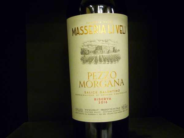 Masseria Li Veli Pezzo Morgana Salice Salentino 2016 -Restmenge-