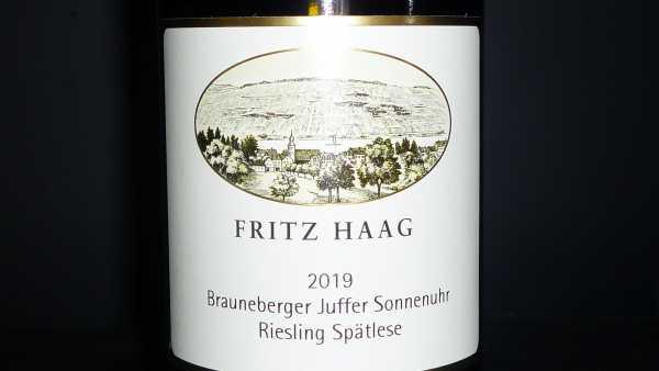 Fritz Haag Brauneberger Juffer Sonnenuhr Riesling Spätlese 2019