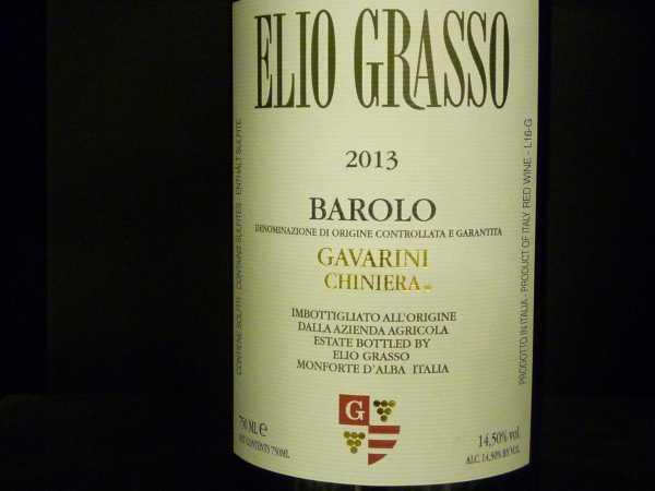 Elio Grasso Barolo Gavarini Chiniera 2013