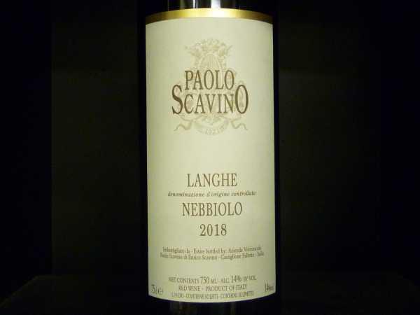 Paolo Scavino Nebbiolo Langhe DOC 2018 -Restmenge-
