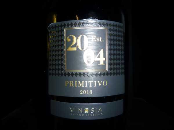 Vinosia Primitivo Salento Est. 2004 2019
