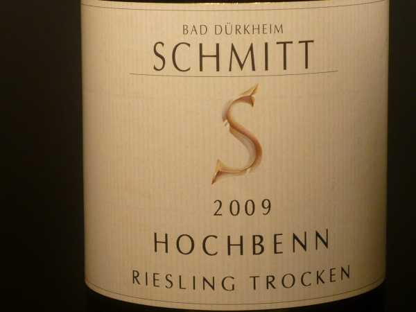 Schmitt Riesling trocken Hochbenn 2018