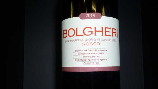 Bolgheri Rosso Grattamacco DOC 2019