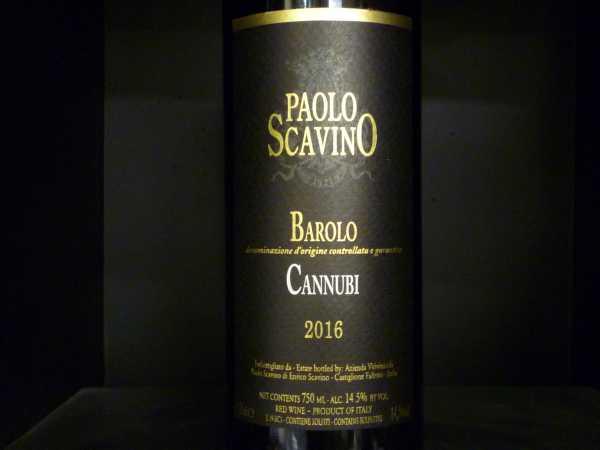 "Paolo Scavino ""Cannubi"" Barolo DOCG 2016"
