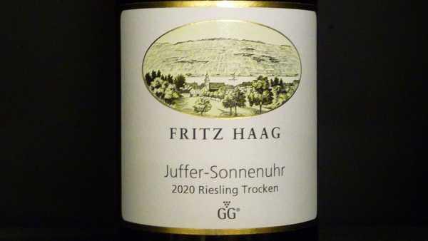 Fritz Haag Brauneberger Juffer Sonnenuhr trocken GG 2020