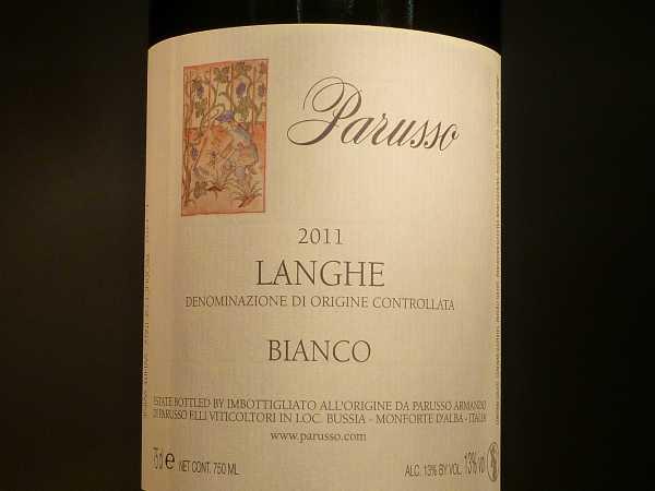 Parusso Langhe Bianco Sauvignon Super!!! 2018