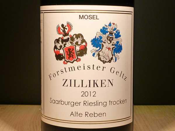 Forstmeister Geltz Zilliken Saarburger Riesling trocken Alte Reben Saar 2016 -Restmenge-