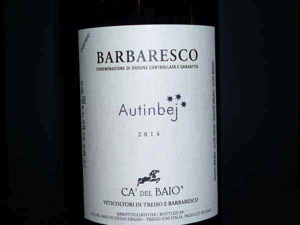Barbaresco DOCG Autinbej Ca' del Baio 2016