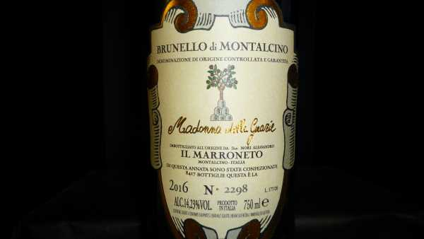 Il Marroneto Brunello di Montalcino Madonna delle Grazie 2011 Restmenge