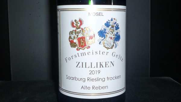 Forstmeister Geltz Zilliken Saarburg Riesling trocken Alte Reben 2019