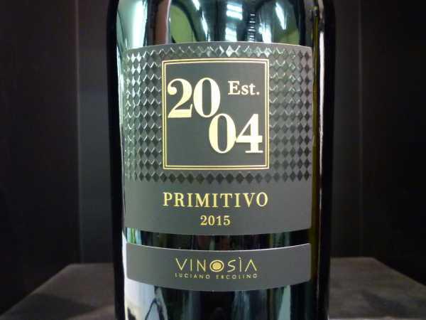 Vinosia Primitivo Salento Est. 2004 2018