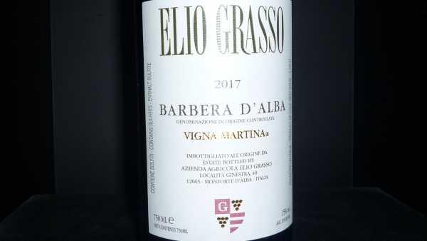 Elio Grasso Barbera d´Alba Vigna Martina 2017