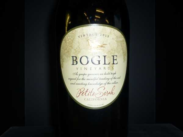 Bogle Vineyards Petite Sirah California 2015