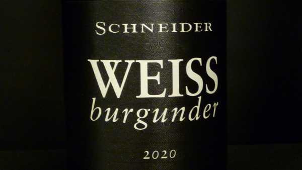 Schneider Markus Weissburgunder 2020