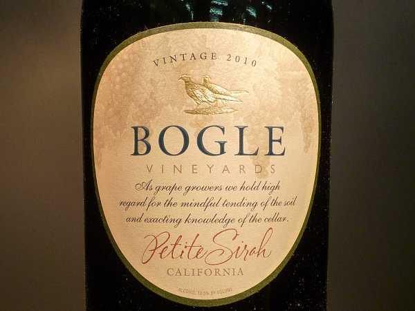 Bogle Vineyards Petite Sirah California 2015