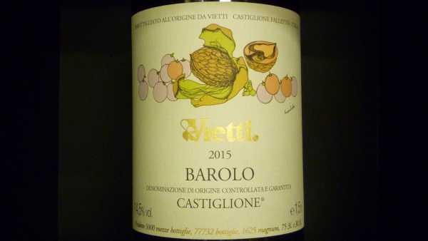Vietti Barolo Castiglione 2015 Magnum