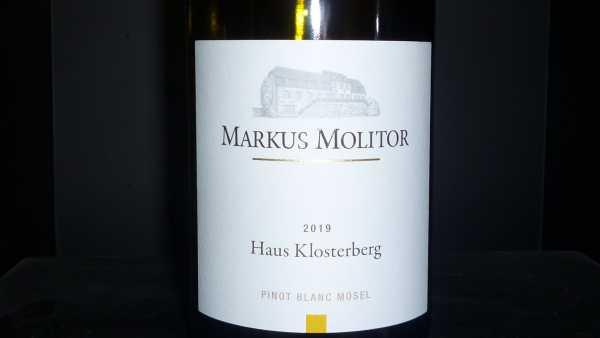 Markus Molitor Haus Klosterberg Pinot Blanc 2019