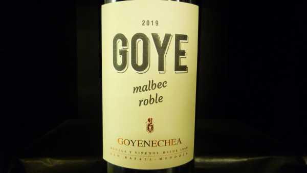 Goye Malbec roble Goyenechea 2019