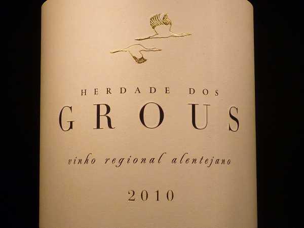 Herdade dos Grous tinto Vinho regional Alentejano 2017