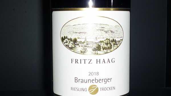 Fritz Haag Brauneberger J Riesling trocken 2018