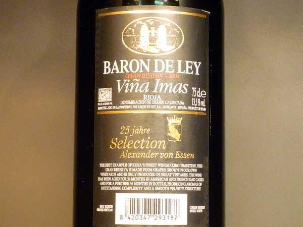 Baron de Ley Vina Imas Gran Reserva 2012 Restmenge
